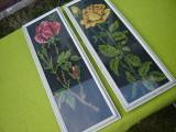 Frumoasa pereche de goblenuri trandafir rosu si galben