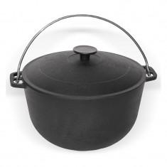 Cratita-ceaun fonta cu capac 8l Handy KitchenServ