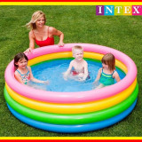Piscina gonflabila copii Intex, 168 x 46 cm, 4 inele