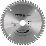 Disc circular aluminiu 160 x 20 x 2.2 mm 52 dinti Yato YT-60905
