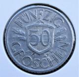 Austria 50 Groschen 1947 - transport gratuit, Europa