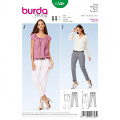 Tipar de pantaloni Burda Style 6658