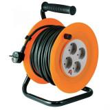Prelungitor tambur metalic, 4 prize, 50m, 3 x 1,5 mm2, ip20