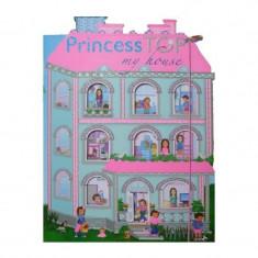 Carte cu abtibilduri Princess TOP My house, editura Girasol, roz