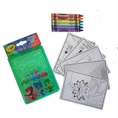 Set Creioane Multicolor Giochi Preziosi Pj Masks Travel Pack 6 Washable Crayons 40 Activity Sheets