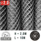 Cumpara ieftin PLASA IMPLETITA ZINCATA 2.0 X 10 M, DIAMETRU 2.0 MM