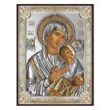 Icoana Argint Maica Patimirilor (Amolintos) 13x18cm COD: 2590
