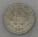 G5. ROMANIA RPR 3 LEI 1963, 5.86 g, Ni Clad Steel, 27 mm - frumoasa **