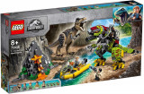 LEGO JURASSIC WORLD LUPTA T. REX CONTRA DINOMECH 75938