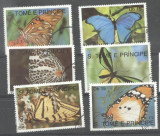 Sao Tome e Principe 1990 Butterflies, used M.264