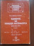 Elemente de analiza matematica pentru clasa XII-a- Mircea Ganga