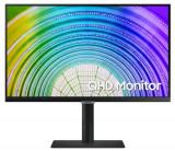 Monitor IPS LED Samsung 24inch LS24A600UCUXEN, QHD (2560 x 1440), HDMI, DisplayPort, Pivot, 75 Hz (Negru)