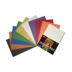 Carton colorat asortat metalizat 120g A4 50 coli Daco