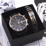 Set cadou cu ceas barbatesc Gescar si bratara eleganta