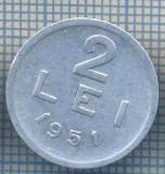 AX 716 MONEDA- ROMANIA - 2 LEI -ANUL 1951 -STAREA CARE SE VEDE