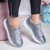 Pantofi Piele dama gri Nevaria