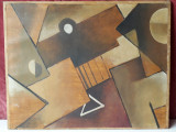 Tematica abstracta - pictura veche in ulei