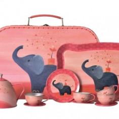 Set metalic ceai Elefant in valiza Egmont Toys