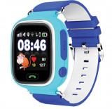 Ceas pentru copii cu GPS Tracker , culoare albastru , cu locas SIM