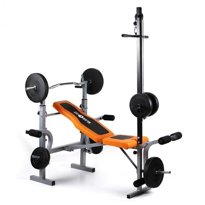KLARFIT Ultimate Gym 3500 Kraftstation bancă răsuci brațul latissimus / picior