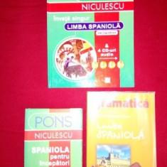 Colectie 3 carti de Limba Spaniola, stare foarte buna, pret redus