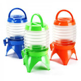 Borcan Shot-uri Dozator Plastic Pliabil 3L cu Robinet