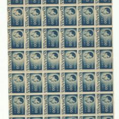 ROMANIA MNH 1945 - Uzuale Mihai I - fragment coala 300 L - 54 timbre
