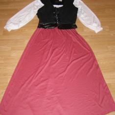 costum carnaval serbare sclava rochie medievala pentru adulti marime L-XL