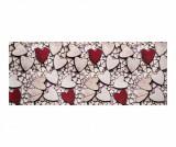 Covor Cuori Legno 58x80 cm