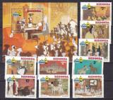 Redonda 1982 Disney 101 dalmatieni serie + bloc MNH, Nestampilat