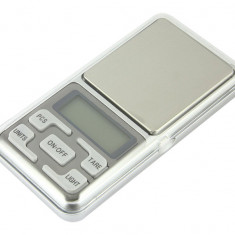 Mini cantar electronic pentru bijuterii cu afisaj LCD, precizie 0.1g, capacitate 500g