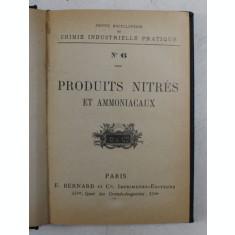 PRODUITS NITRES ET AMMONIACAUX , EDITIE INTERBELICA