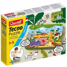 Jucarie Jungla Savana Tecno Puzzle 0556 Quercetti