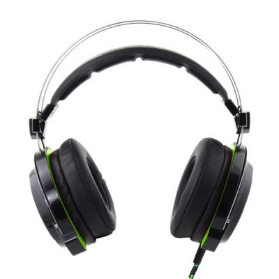 Casti stereo BLOODHUNTER cu microfon vibratii si SURROUND Sound 7.1 pentru gaming compatibil PS3 PS4 USB fir textil 2m foto
