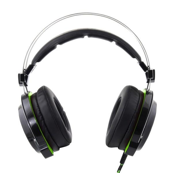 Casti stereo BLOODHUNTER cu microfon vibratii si SURROUND Sound 7.1 pentru gaming compatibil PS3 PS4 USB fir textil 2m