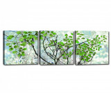 Cumpara ieftin Set 3 tablouri Branches 30x30 cm - Tablo Center, Albastru,Verde