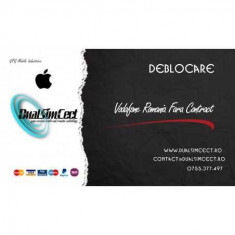 Deblocare Oficiala Apple iPhone Vodafone Romania Fara Contract
