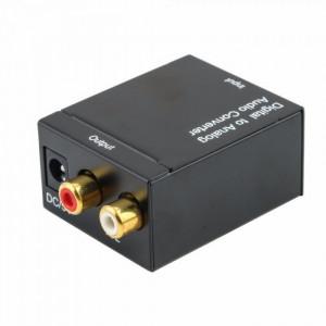 Convertor semnal audio digital coaxial / toslink la semnal analog RCA L / R