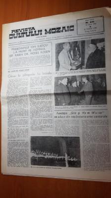revista cultului mozaic 15 iulie 1990-50 ani de la holocaust,ziar in 3 limbi foto