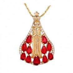 Lantisor pandantiv Divine Red Ruby