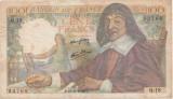 FRANTA 100 FRANCS FRANCI DESCARTES 15-5-1942 F