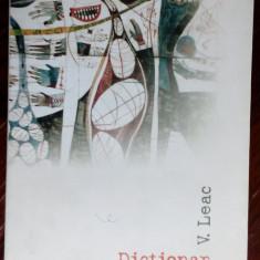 VASILE LEAC - DICTIONAR DE VISE (VERSURI, editia princeps - 2006) [CARTE + CD]