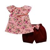 Costumas cu pantaloni bufanti pentru fetite (Marime Disponibila: 2 ani)