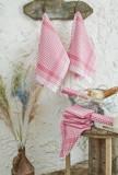 Set zece prosoape de bucatarie, Eponj Home, 336EPJ1102, Roz