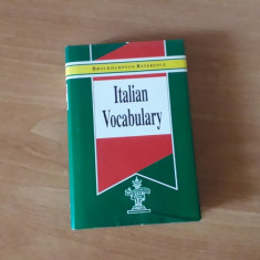 Vocabular italian - Italian vocabulary