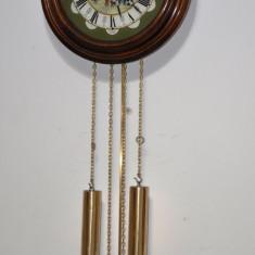 Ceas de perete cu pendula si 2 greutati AMS