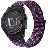 Cumpara ieftin Curea ceas Smartwatch Garmin Fenix 3 / Fenix 5X, 26 mm iUni Soft Nylon Sport, Midnight Purple