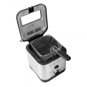 Friteuza Electrica Adler cu Termostat Reglabil, Putere 900W, Capacitate 1.5L, Container de Ulei Detasabil, Maner Pliabil si Cos cu Functie de Ridicar