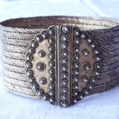 BRATARA argint TRIBALA manopera EXCEPTIONALA de efect VECHE vintage MASIVA rara