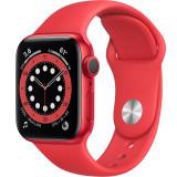 Smartwatch Watch 6 40mm Aluminiu Product Red Si Curea Sport Rosu, Apple